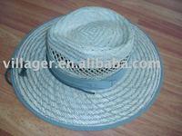hollow straw hat big brim