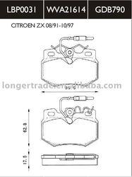 High quality brake pads GDB790 for CITROEN