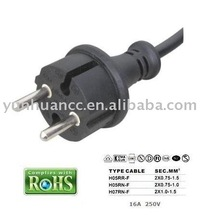 2 PINS European VDE power cord,power plug for power tools