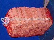 PE circualr mesh bag for wood