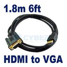 1.8M HDMI Male to VGA Male Cable