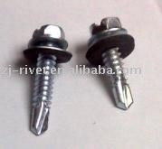 hex washer head self drilling screw with bonded rubber washers
