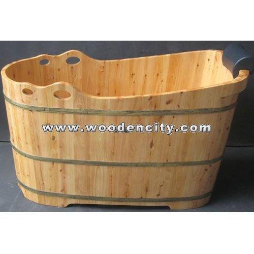 En bois baignoire bois baignoire baignoire bains - Baignoire en bois prix ...
