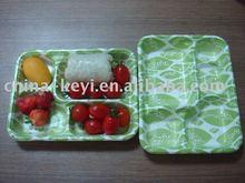 biodegradable sugarcane fiber food tray