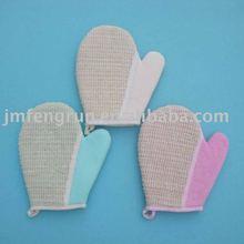 Cotton bath gloves
