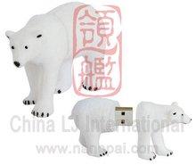 custom pvc Polar Bear usb flash drive, animal shape USB Flash Drive