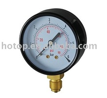 Steel Case Bourdon Tube Pressure Gauge 6J2