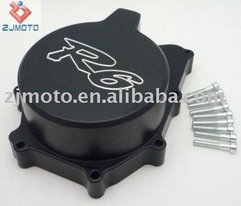 Black Billet Aluminum Stator Engine Cover For YZF R6 1999-2002