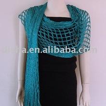 lady's viscose shawl/glitter net shawl