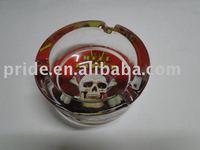 tattoo glass ashtray