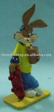 rabbit 3D PVC animal figurine toy