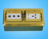 Two sigle box floor socket with Brass cover