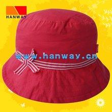 Girl's Red Bucket Fashion Hat HWH-1001004