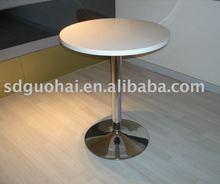 white round cafe table
