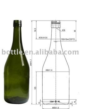 burgundy wine bottle