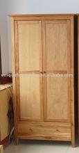 oak wood wardrobe 2doors bedroom furniture