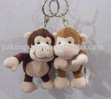 Plush keychain monkey