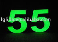 glow in dark numbers door plate