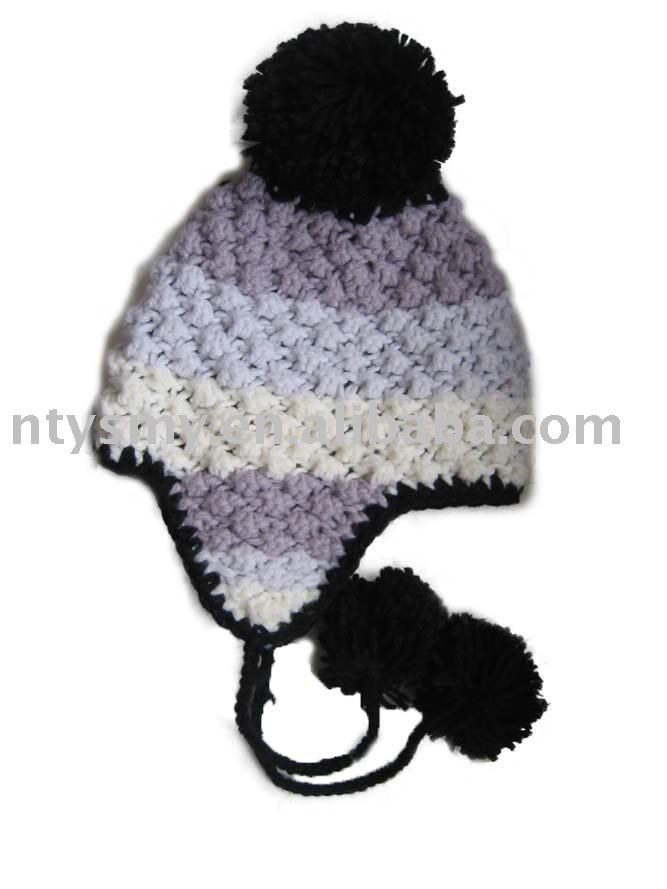 ABC Knitting Patterns - Fair Isle Earflap Hat.