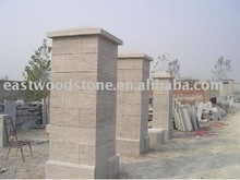dry honed blue limestone gate post