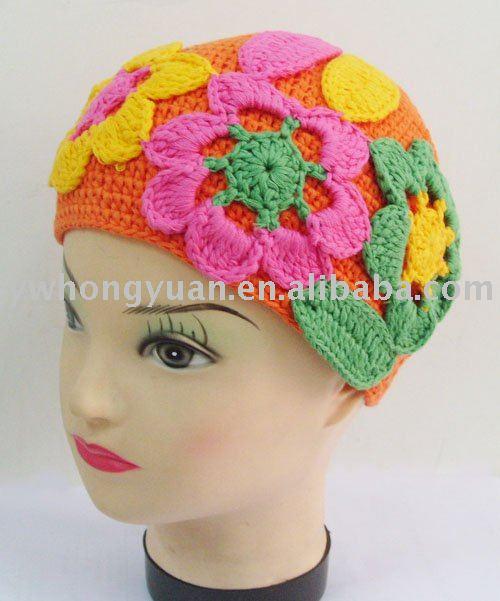 Stripe Crochet Beanie Cap