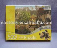 500pcs Cottages Puzzle Game