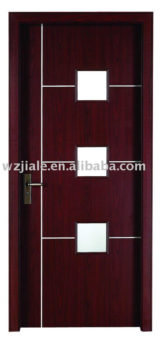 Puertas Para Baño Madera:Vidrio a prueba de agua de baño de madera cocina dormitorio-Puerta
