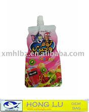 Good standing bag packing juice, milk,water,jelly