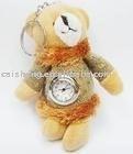 Cute clock plush bear