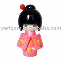 Wood Japanese doll Crafts