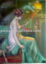 lady oil painting 100% handmade high Quality