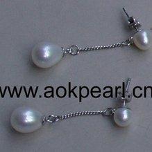 AE532 AAA pearl & 925 sterling silver earring jewelry