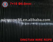 Vinyl Coated Galvanized Wire Rope 7*19