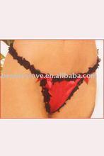 sexy Satin Heart Valentine G-string,Sexy Ladies underwear,Sexy lingerie