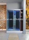 Red Luxury shower cabin with LED top light (9035)