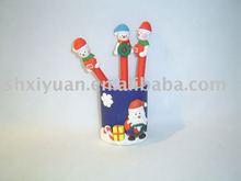 Christmas gift clay pen(XY002)