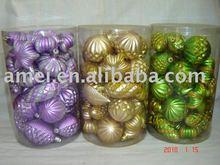 christmas decorative ball in plastic materials