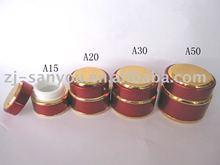 Red color UV Nail Gel Jar