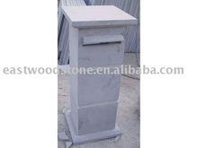 blue limestone letterbox,China bluestone mailbox dry honed 80#