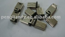 High quality MINI USB 5Pin mobile phone plug/connector