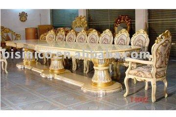 luxo cl ssico de madeira tamanho grande mesa de jantar cadeiras de
