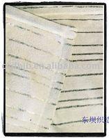 Shining stripe coral fleece,100% polyester