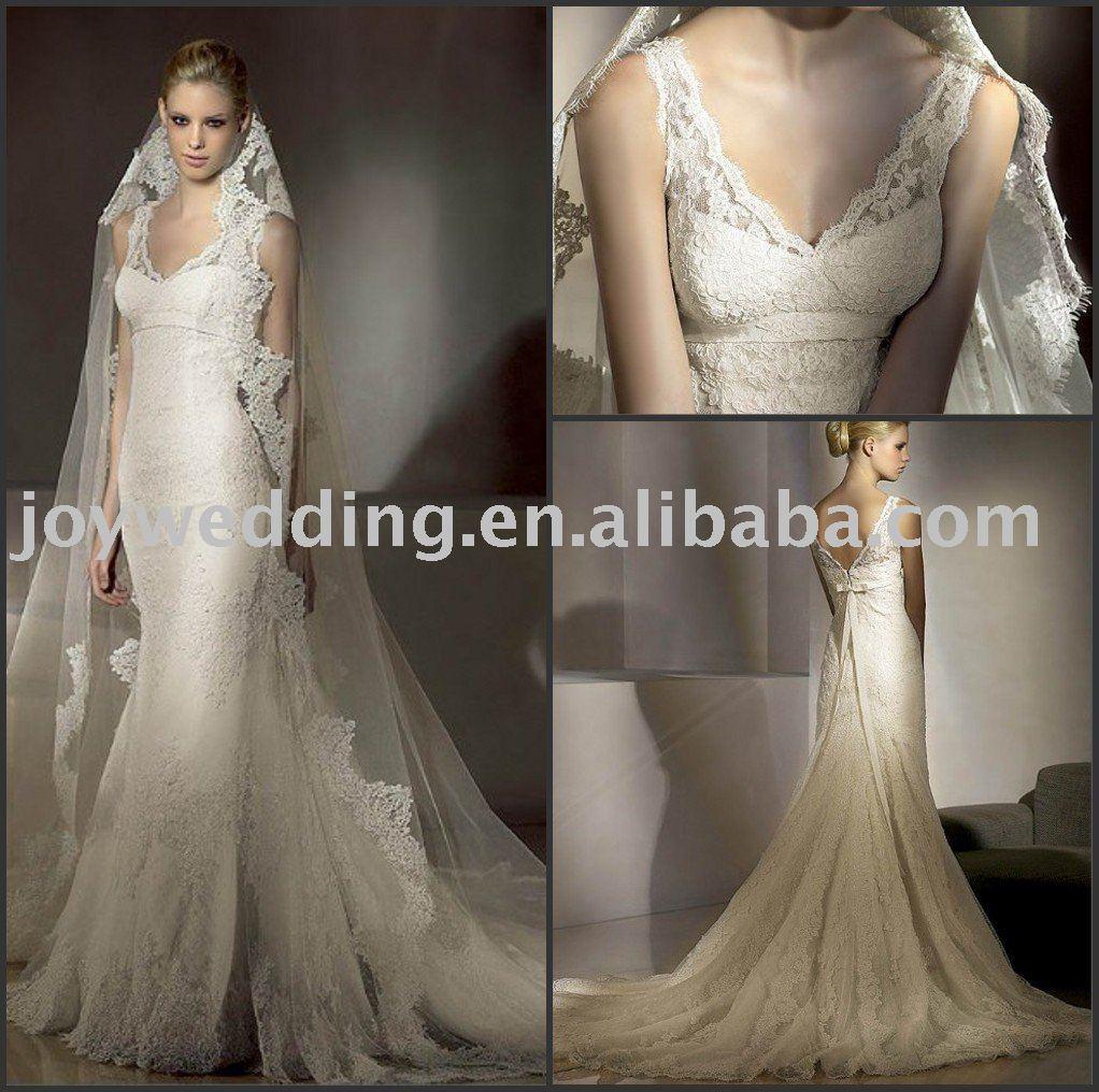 Amazon.com: Ivory Lace Mantilla Bridal Wedding Veil Headpiece