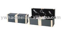 PU/PVC wine box ,leather wine case , gift wine box