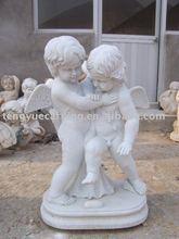 stone statues of two angel(STU683)