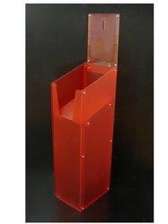 single tier Acrylic Brochure Display Stand/dump bin