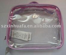 (XHF-PVC-018) ziplock clear pvc mini cosmetic bag