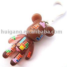 plaything bear,pvc bear,handbag ornament