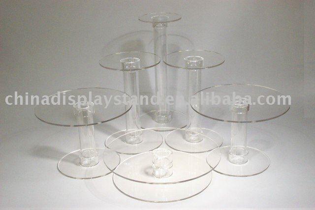 Acrylic Wedding Cake Display Stand Set