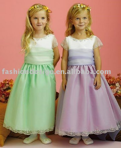 RG017 Fashion hot little children wedding dress Flower girl dresses